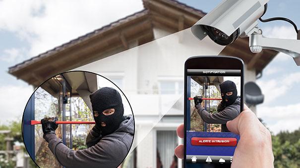 Alerte intrusion du système de vidéosurveillance et de télésurveillance Vigilians
