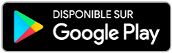 Application disponible sur Google Play