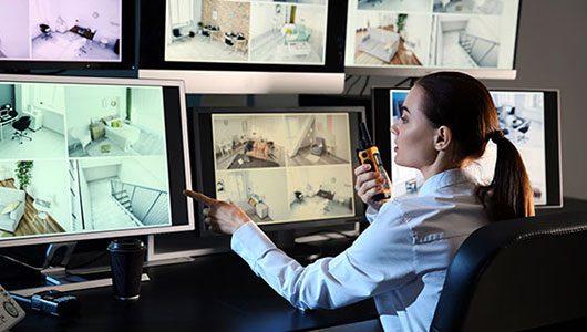 Centre de télésurveillance avec gestion multisites.
